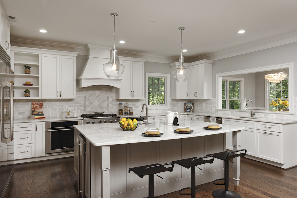 White farmhouse kitchen for home remodeling firm