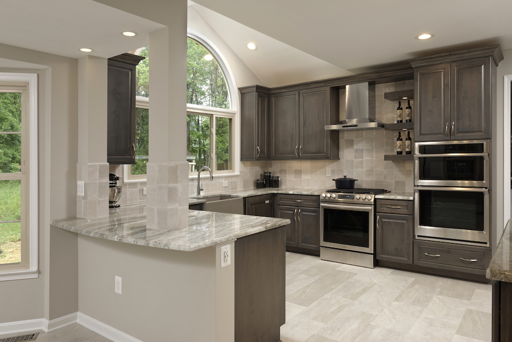 Sand colored home remodeling kitchen