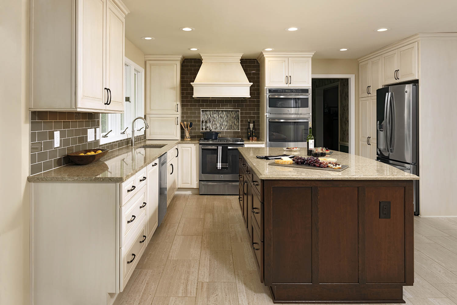Millennial cream granite countertops